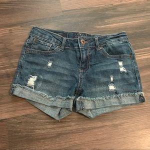 Lucky Brand Distressed Denim Cuff Riley Shorts 10